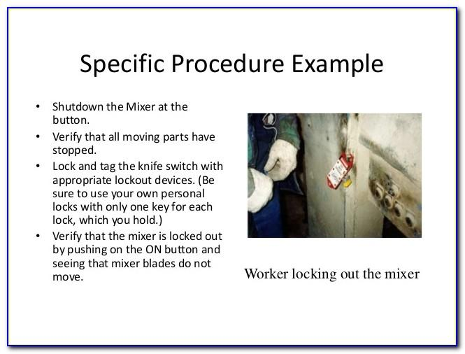 Lock Out Tag Out Procedures Template Osha
