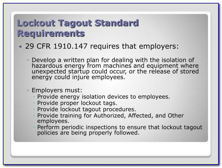 Lockout Tagout Tag Template
