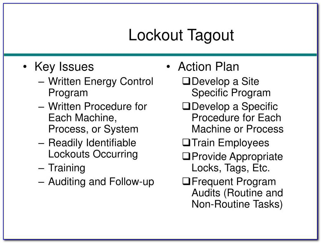 Lockout Tagout Template Excel