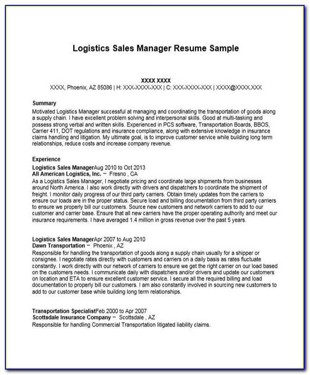 Logistics Officer Job Description Sample
