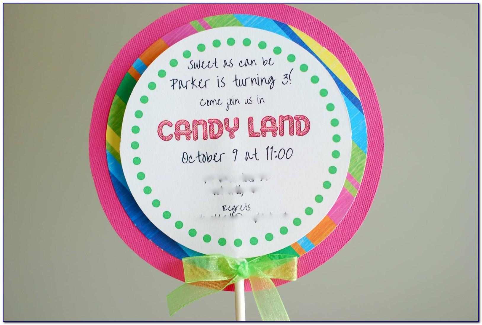 Lollipop Birthday Invitation Template