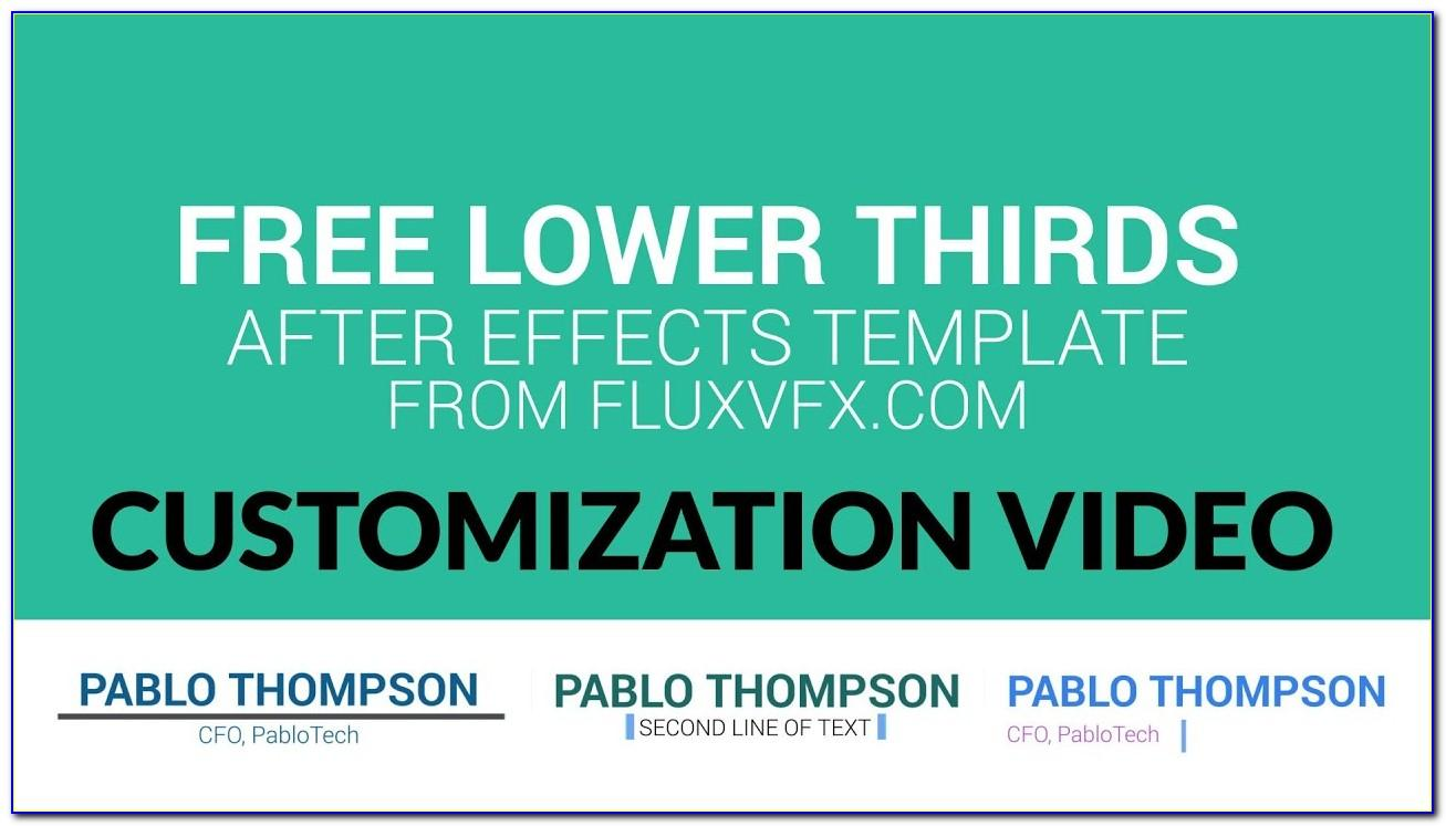 Lower Thirds After Effects Template Free