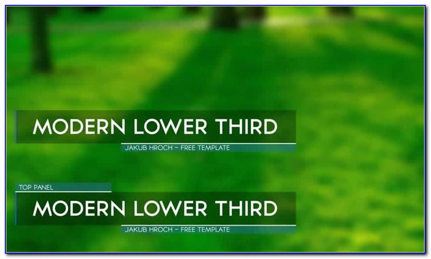 Lower Thirds After Effects Templates Free