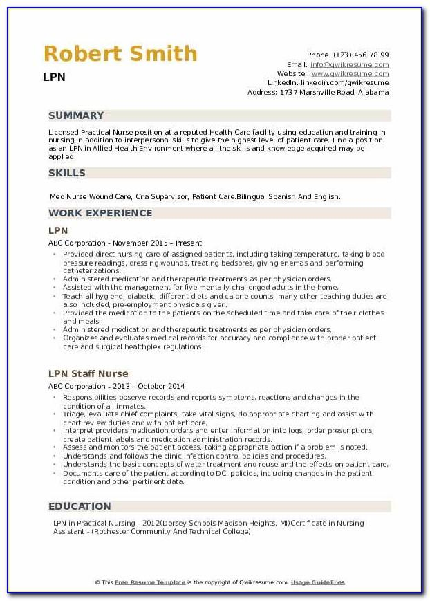 Lpn Resume Cover Letter Templates