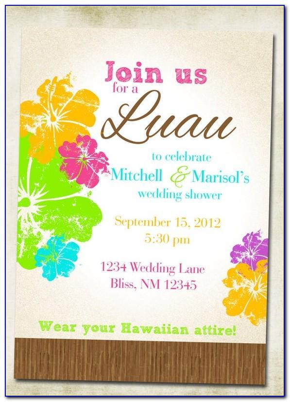 Luau Wedding Invitation Templates