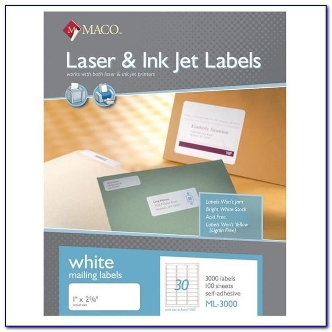 Maco Inkjet Labels Template