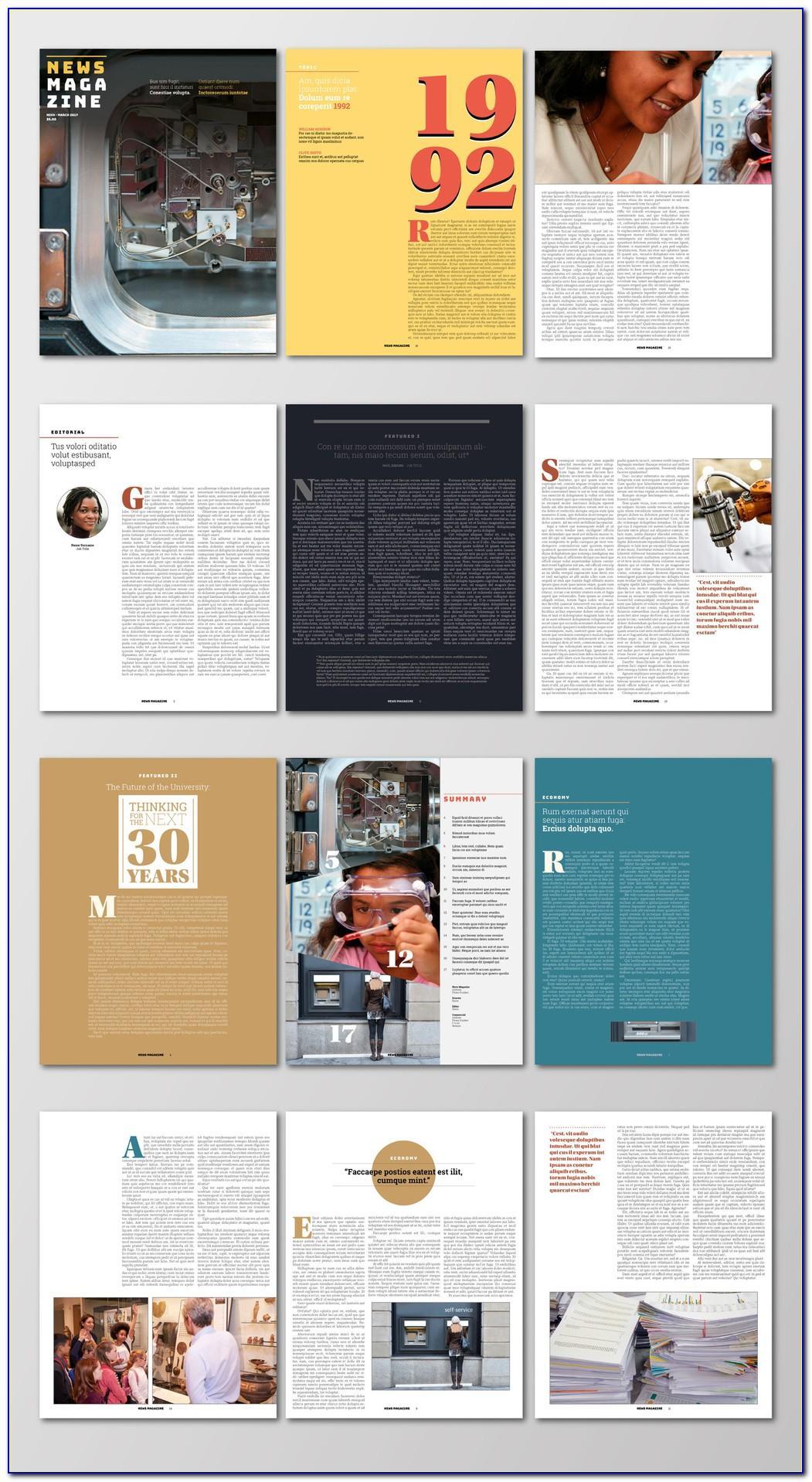 Magazine Design Templates Indesign Free Download
