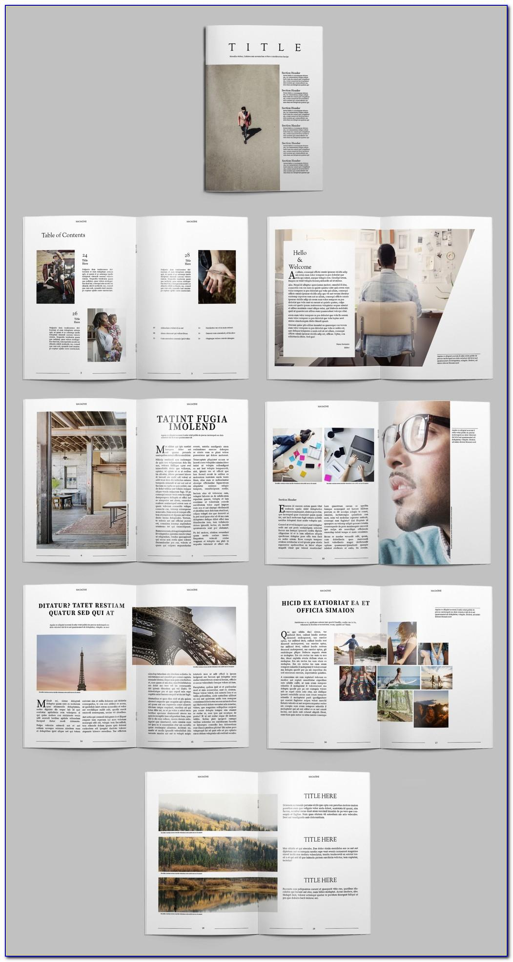 Magazine Layout Templates Indesign