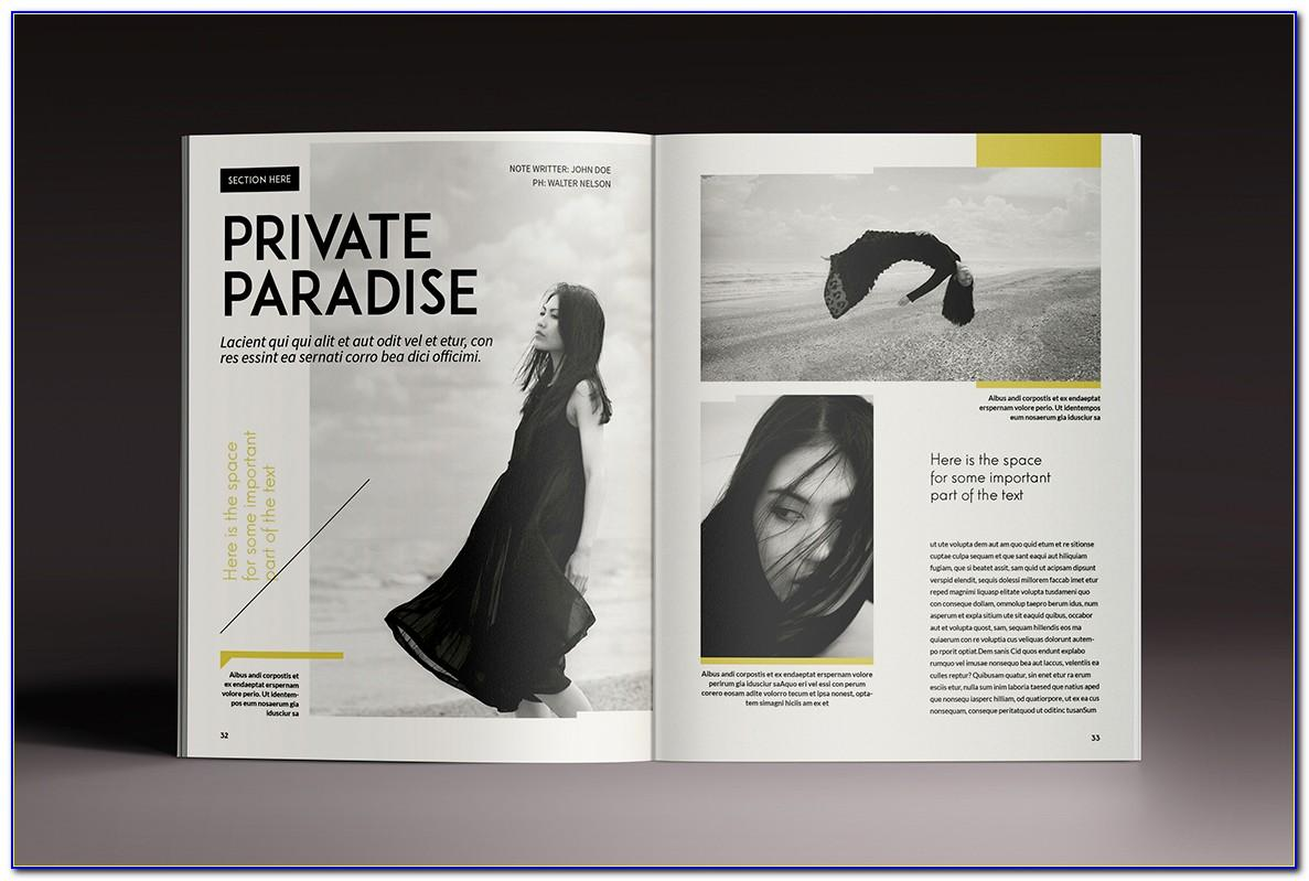 Magazine Style Newsletter Template