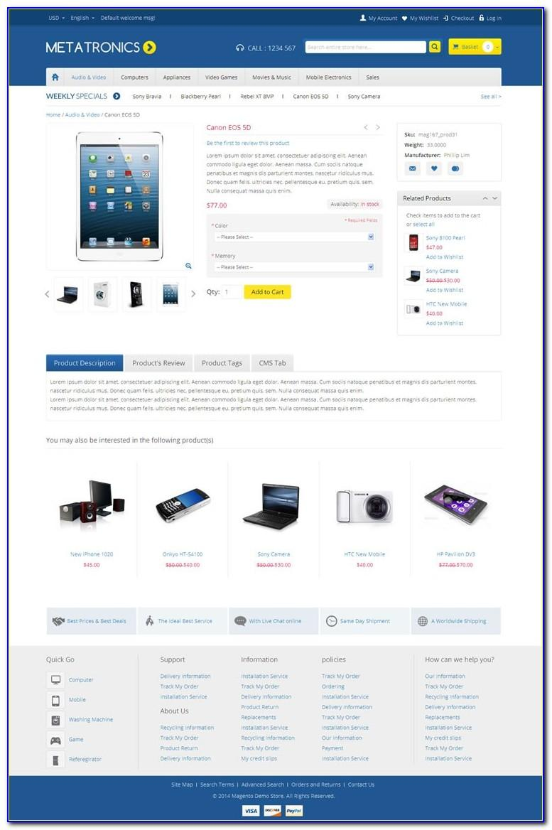 Magento 2 Responsive Themes Free Download