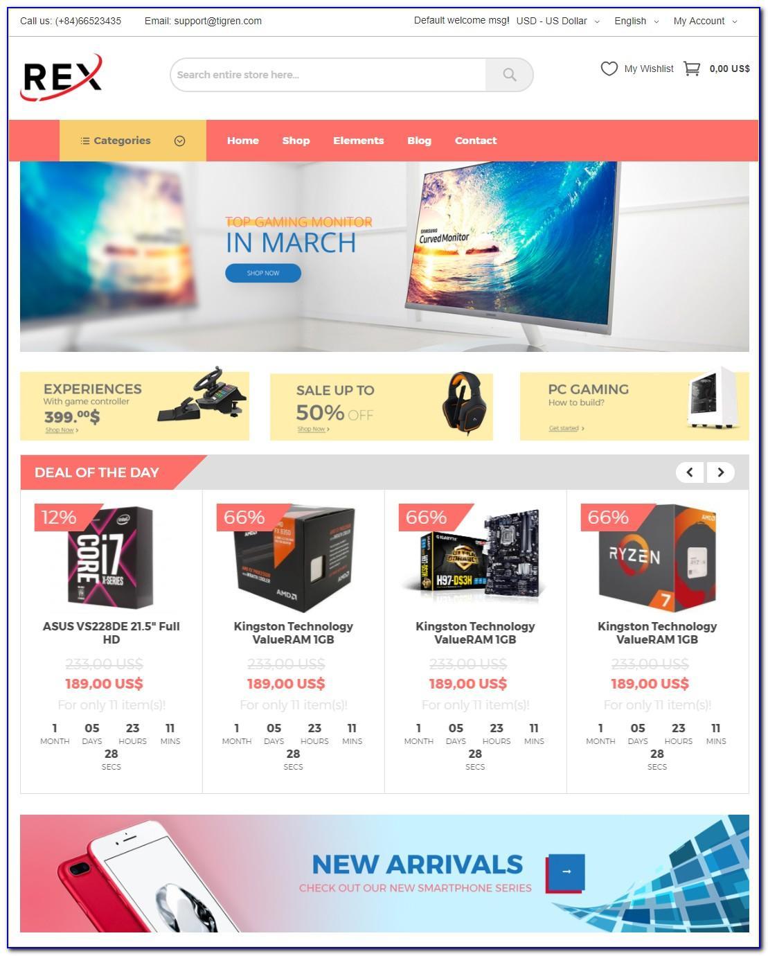 Magento Ebay Template Free