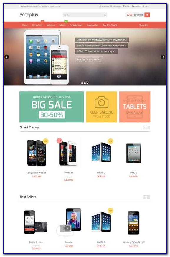 Magento Ecommerce Responsive Themes Free Download