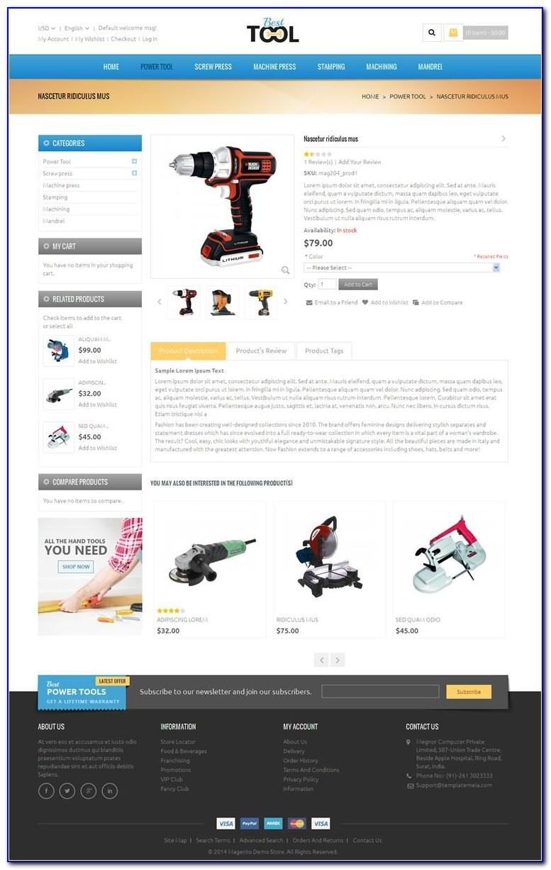 Magento Responsive Themes Free Download 1.9