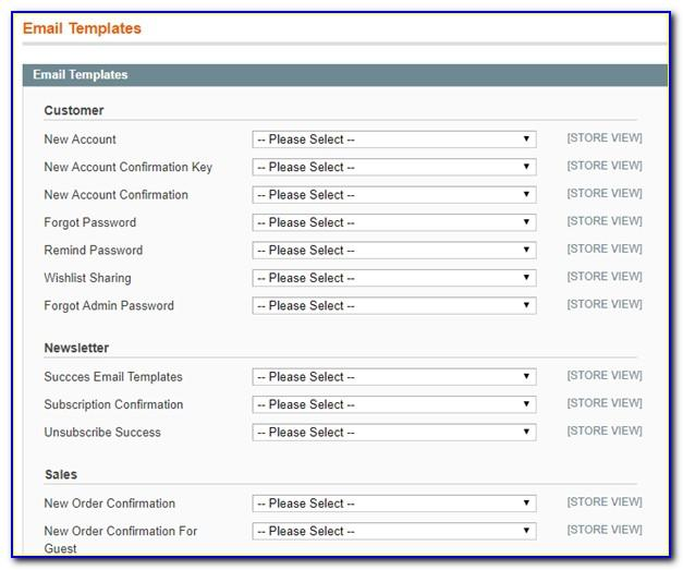 Magento Transactional Email Templates Location