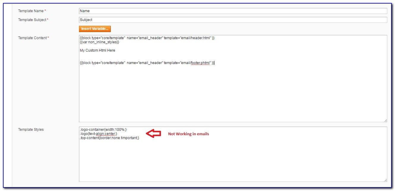 Magento Transactional Email Templates Not Working