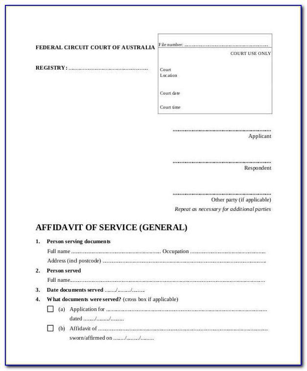 Magistrates Court Affidavit Template