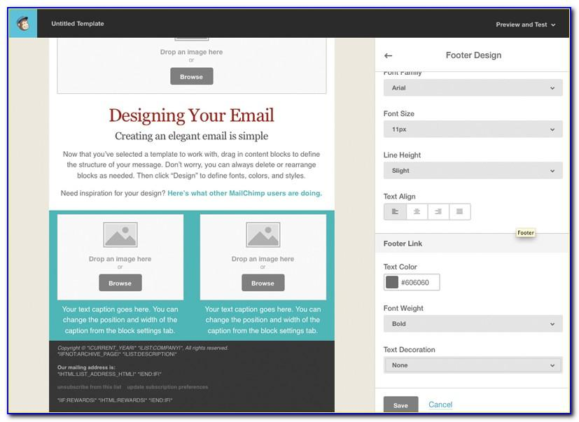Mailchimp Custom Template Tags