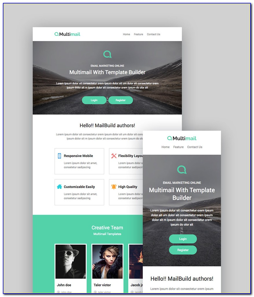 Mailchimp Design Template Psd