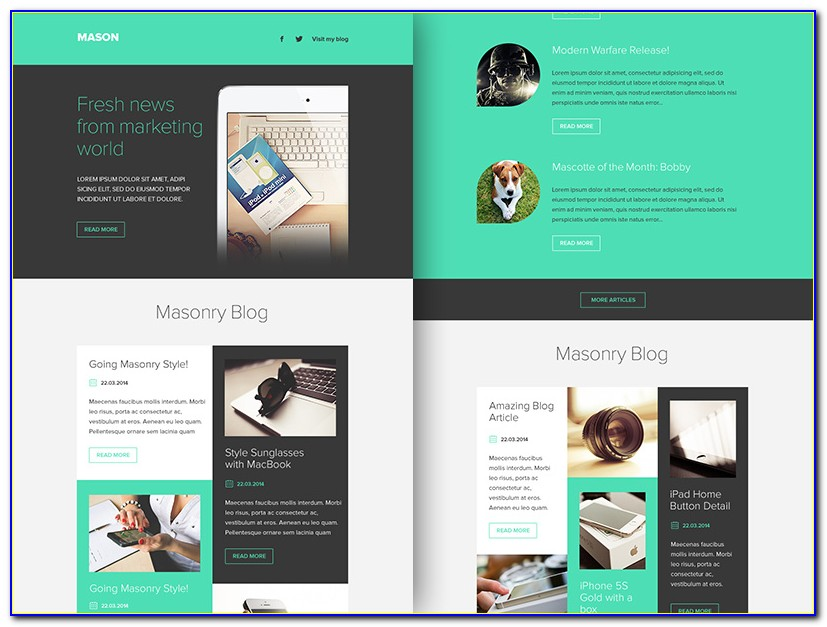 Mailchimp Email Templates Html