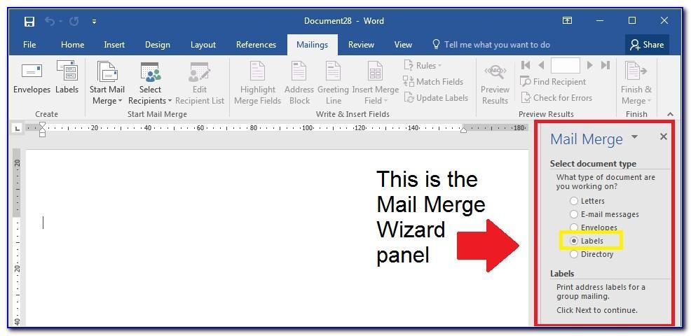 Mailing Labels Microsoft Word