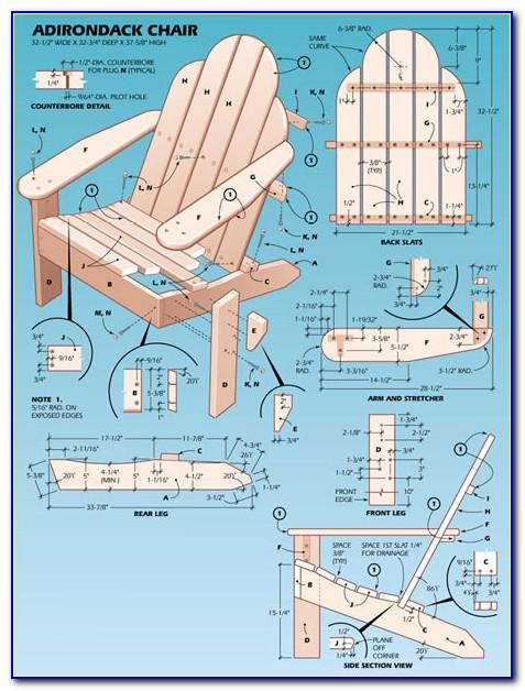Make Adirondack Chair Template
