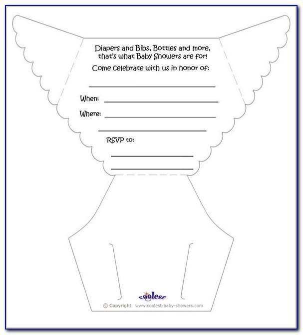 Make Diaper Invitation Template
