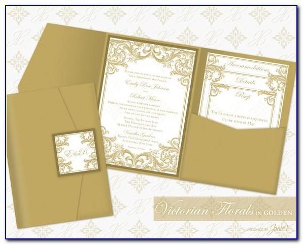 Make Pocket Invitation Template