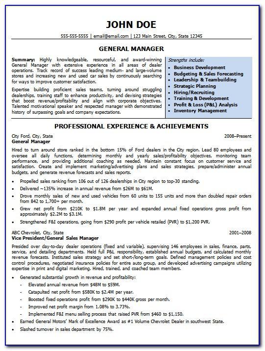 Management Succession Plan Sample