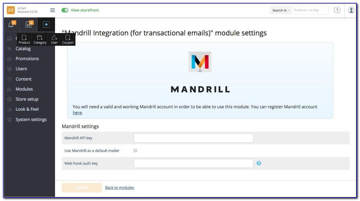 Mandrill Transactional Email Templates