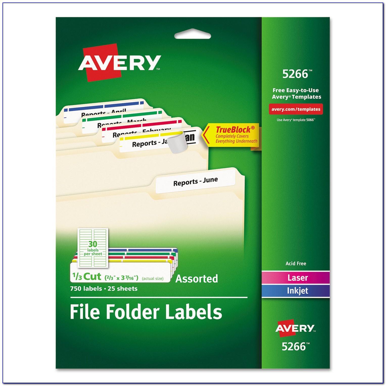Manila File Folder Labels Template