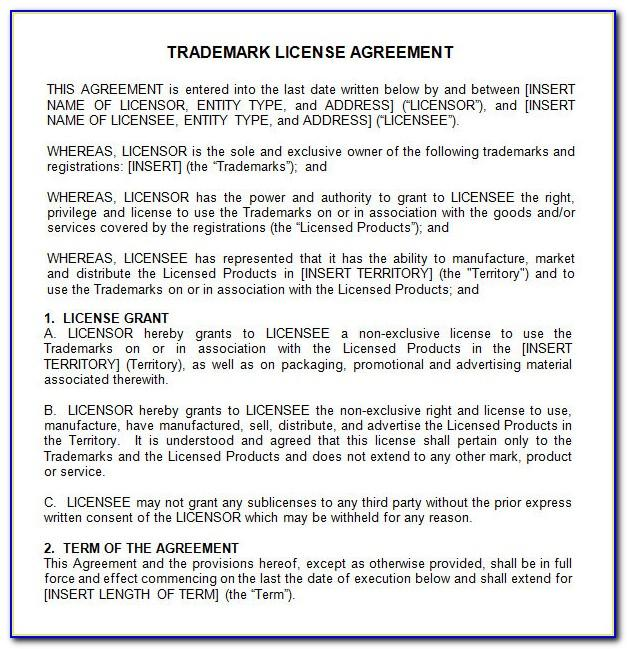 Manufacturing License Agreement Example