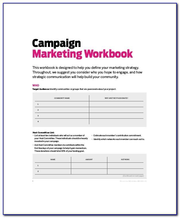 Marketing Campaign Plan Template Pdf
