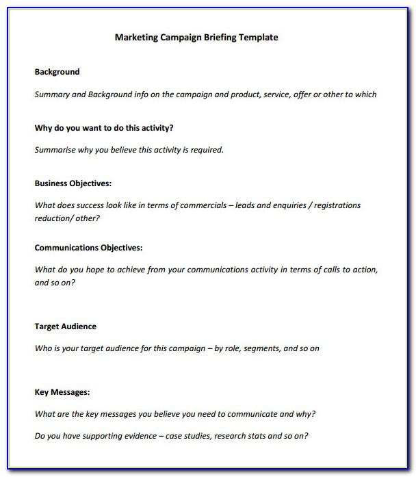 Marketing Campaign Plan Template Ppt