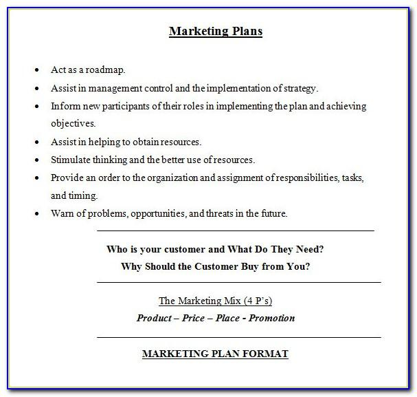 Marketing Plan Example Doc