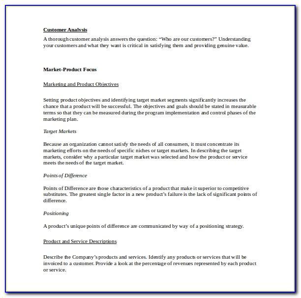 Marketing Plan Sample Xlsmarketing Plan Sample Xls