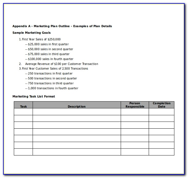 Marketing Plan Template Pptx
