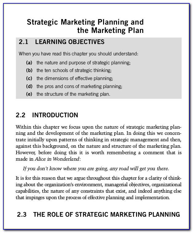 Marketing Strategy Template Xls