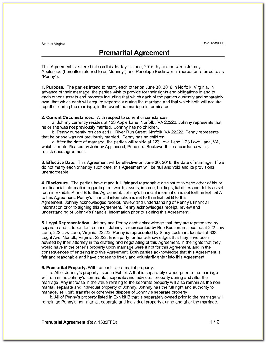 Marriage Agreement Ontario Template