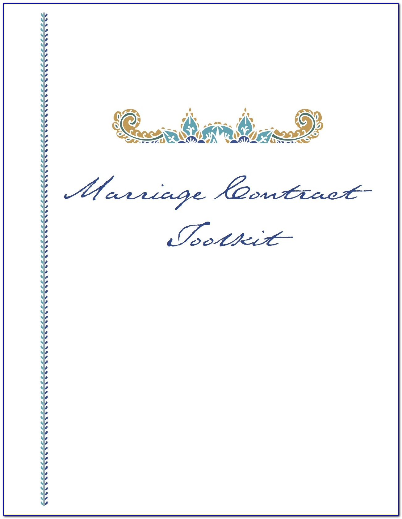 Marriage Contract Template Canada