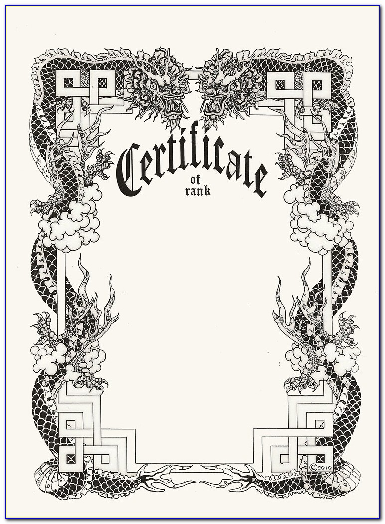 Martial Arts Certificates Templates Free