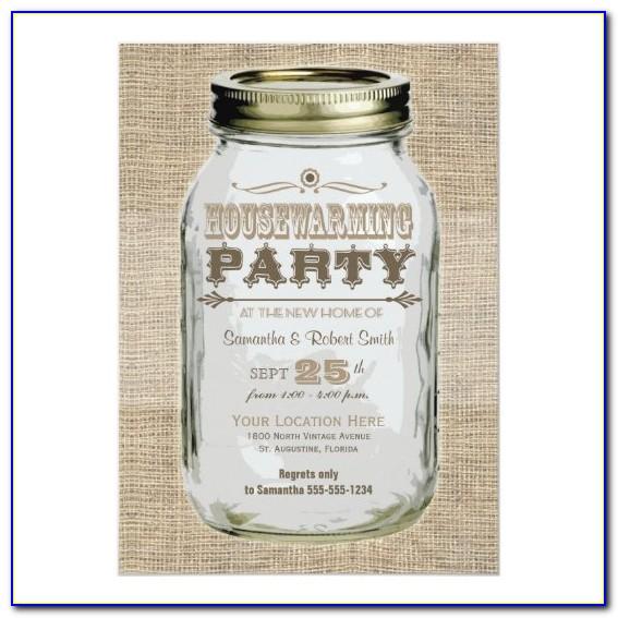 Mason Jar Baby Shower Invitation Template