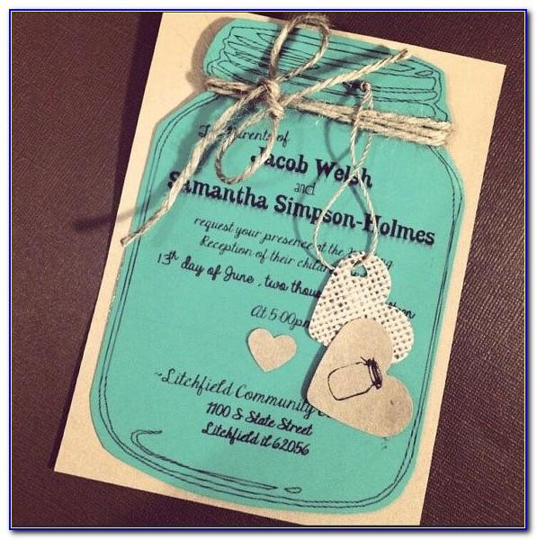 Mason Jar Free Printable Wedding Invitations Templates