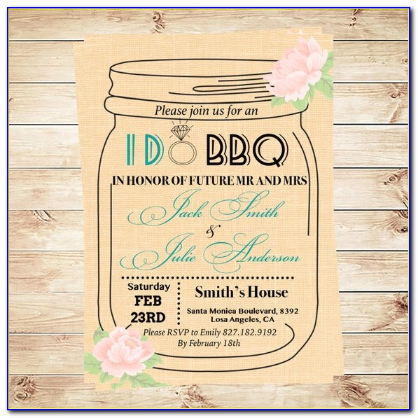 Mason Jar Party Invite Template