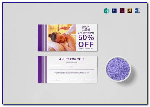 Massage Gift Certificate Printable Free