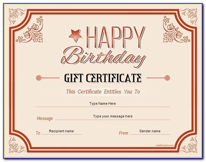 Massage Gift Certificate Sample