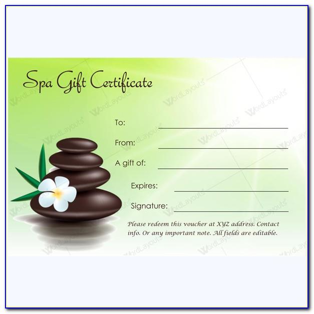Massage Gift Certificate Templates Word