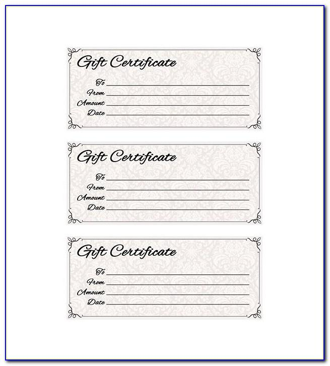 Massage Gift Voucher Template Free