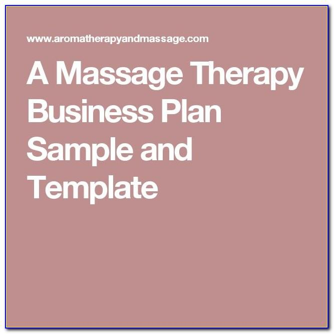 Massage Therapy Business Plan Samples Free