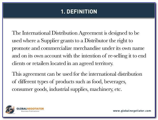 Master Distribution Agreement Sample