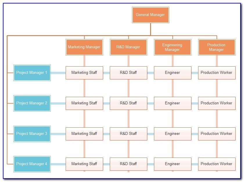 Matrix Organization Structure Template